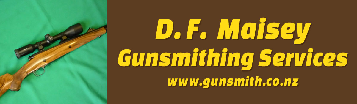 D.F. Maisey Gunsmithing Services banner