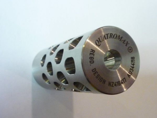 Quatromax radial-ported muzzlebrake for light-medium weight rifles